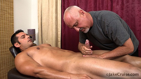 Marcus Ruhl Massaged at Jake Cruise 08 Ripped Muscle Bodybuilder Strips Naked and Strokes His Big Hard Cock photo image1 - Marcus Ruhl Massaged at Jake Cruise