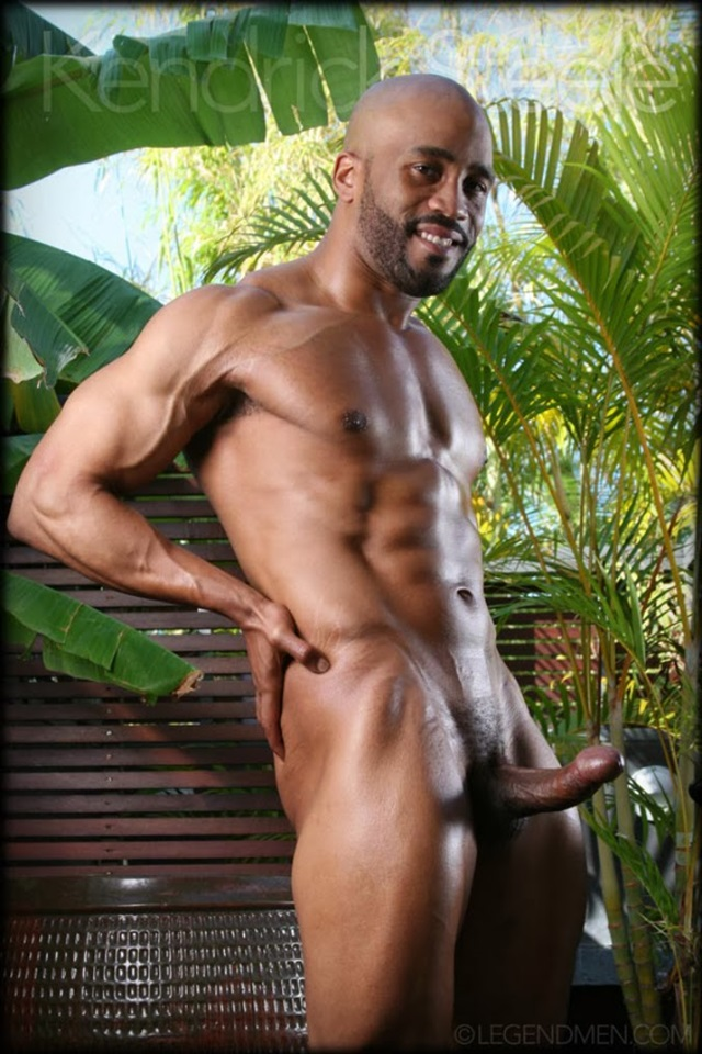 Kendrick Steele  Gay Porn Star Pics  Black Muscle Naked -6895