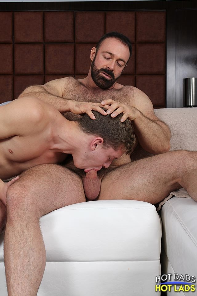 Hot Lads Hot Dads Ian Levine hairy bear Brad Kalvo hard on boxers lad shirt fucks mouth strokes own huge cock 008 male tube red tube gallery photo - Brad Kalvo and Ian Levine