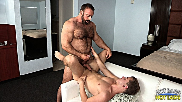 Hot Lads Hot Dads Ian Levine hairy bear Brad Kalvo hard on boxers lad shirt fucks mouth strokes own huge cock 017 male tube red tube gallery photo - Brad Kalvo and Ian Levine