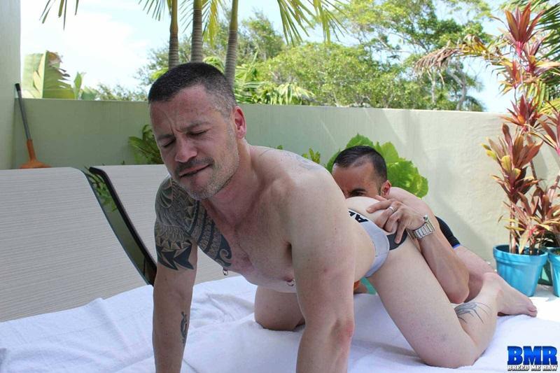 BreedMeRaw real life husbands Russ Magnus Gabriel Fisk hot lover muscle studs muscled man ass hole fingered huge uncut cock anal rimming 18 gay porn star sex video gallery photo - Real life husbands Gabriel Fisk and Russ Magnus bareback ass fucking