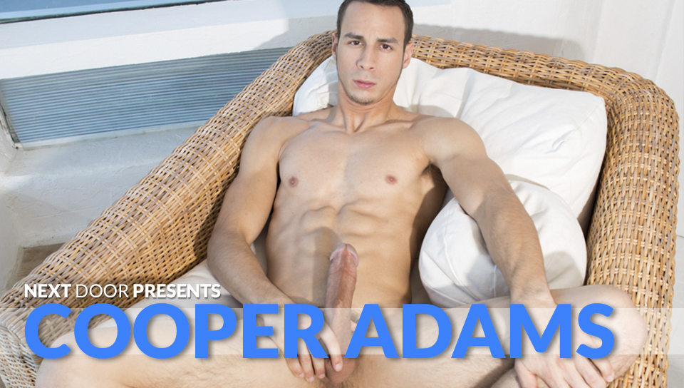 48965 01 01 - Sexy young lad Cooper Adams strips naked and jerks his huge dick to a massive cumshot