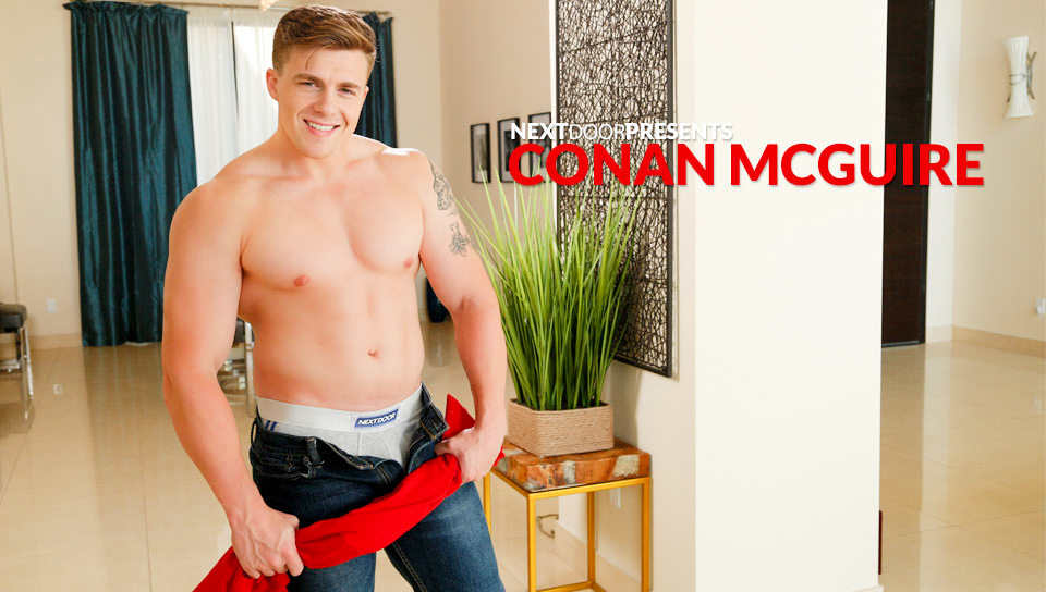 50430 01 01 - Conan McGuire jerks his huge dick bringing himself to climax blowing his warm load
