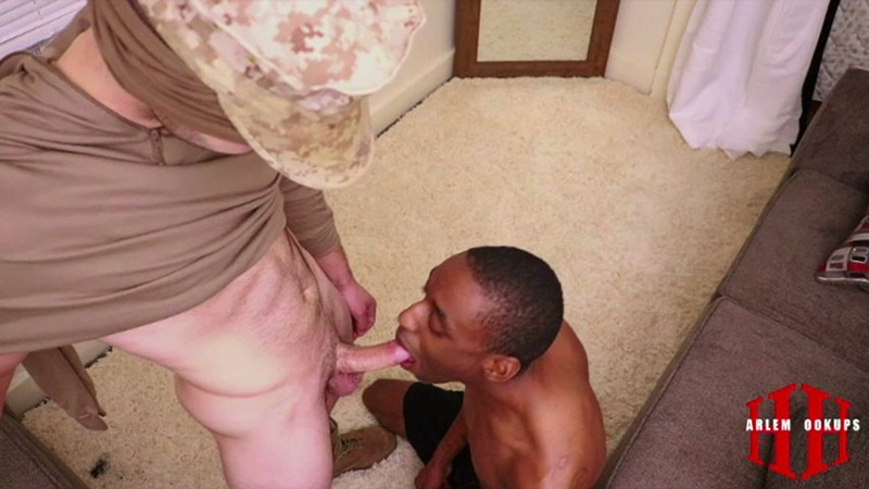 HarlemHookups nude interracial dudes cock sucking Harlem Hookups Military Mouth Fuck army guys black on white big thick cock 006 gay porn sex gallery pics video photo - Harlem Hookups Military Mouth Fuck