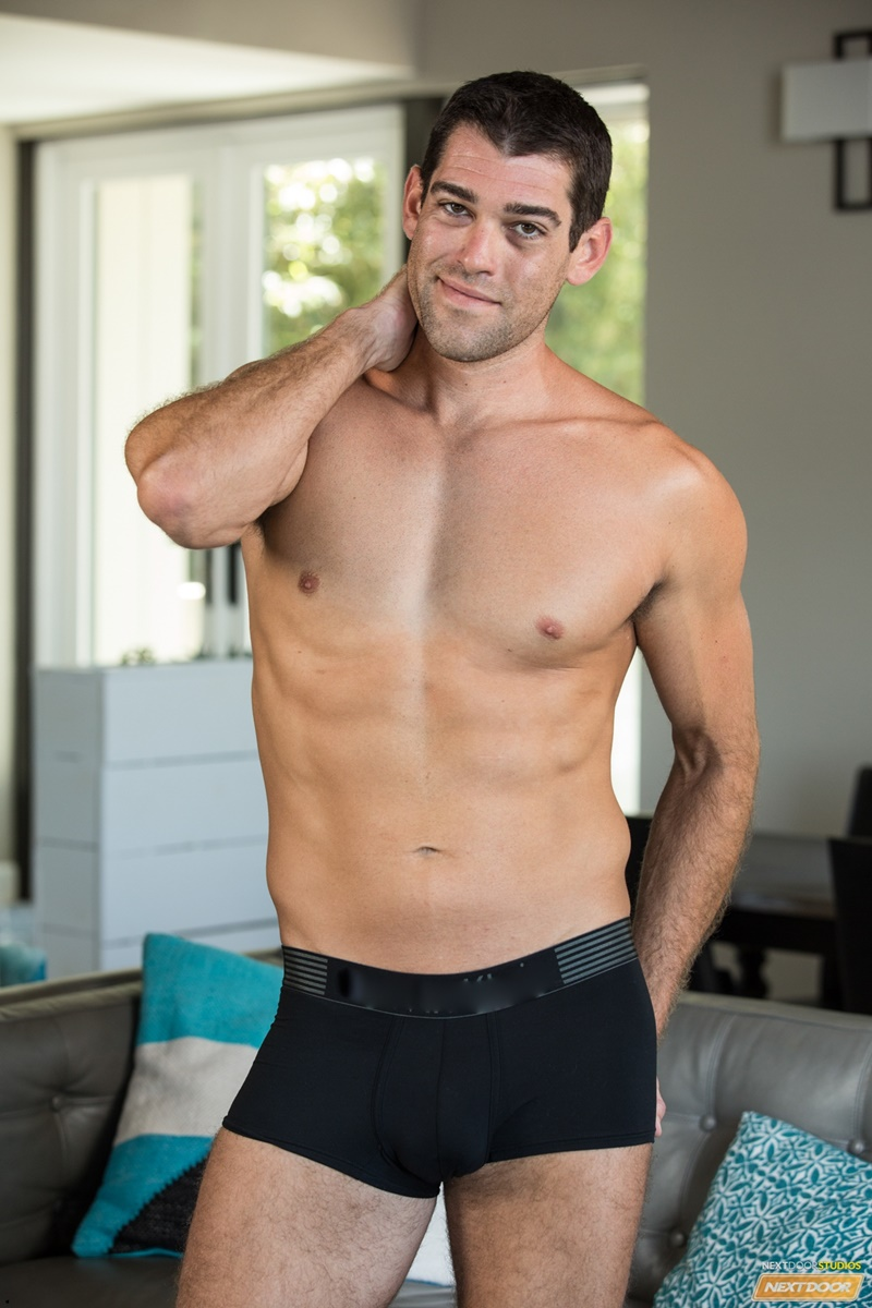 NextDoorMale sexy young dude tan lines Trevor Bigg strips naked wanks huge massive cock load cum orgasm bubble butt ass 007 gay porn sex gallery pics video photo - Trevor Bigg strips naked showing off his sultry tan lines as he wanks out a huge load of cum