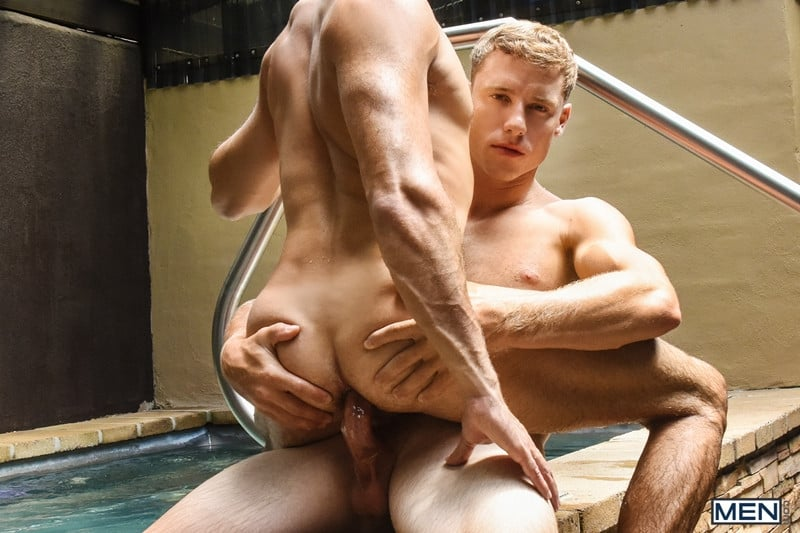 Men for Men Blog Justin-Matthews-and-Shane-Jackson-dildo-ass-play-Men-com-015-gay-porn-pics-gallery Justin Matthews is shocked to find Shane Jackson in the pool taking a huge dildo up his ass Men