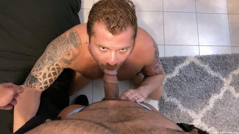 Riley Mitchel fucks Zack Mitchel big dick multiple positions thick ropes hairy abs 001 gay porn pics - Riley Mitchel takes Zack Mitchel's big dick in multiple positions before erupting with thick ropes all over his hairy abs