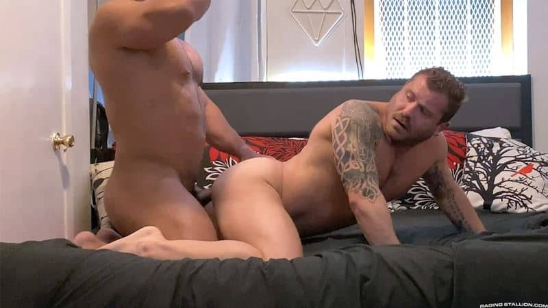 Riley Mitchel fucks Zack Mitchel big dick multiple positions thick ropes hairy abs 012 gay porn pics - Riley Mitchel takes Zack Mitchel's big dick in multiple positions before erupting with thick ropes all over his hairy abs