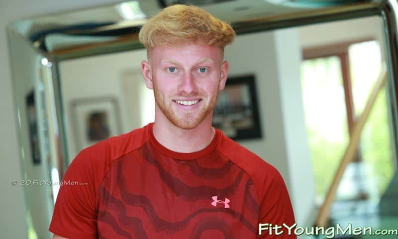Straight ginger English sportsman Ethan Williams sports kit wanking huge uncut dick massive load cum 001 gay porn pics - Straight ginger English sportsman Ethan Williams whips off his sports kit wanking his huge uncut dick to a massive load of cum