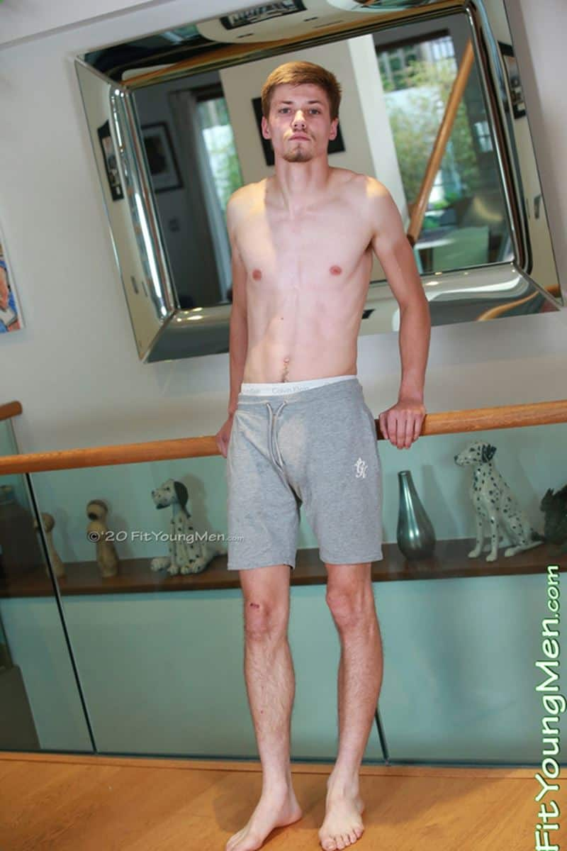 Hot young straight gym stud Felden Shaw strips naked stroking huge uncut dick orgasm cum six pack abs 003 gay porn pics - Hot young straight gym stud Felden Shaw strips naked stroking his huge uncut dick till he blows cum all over his abs