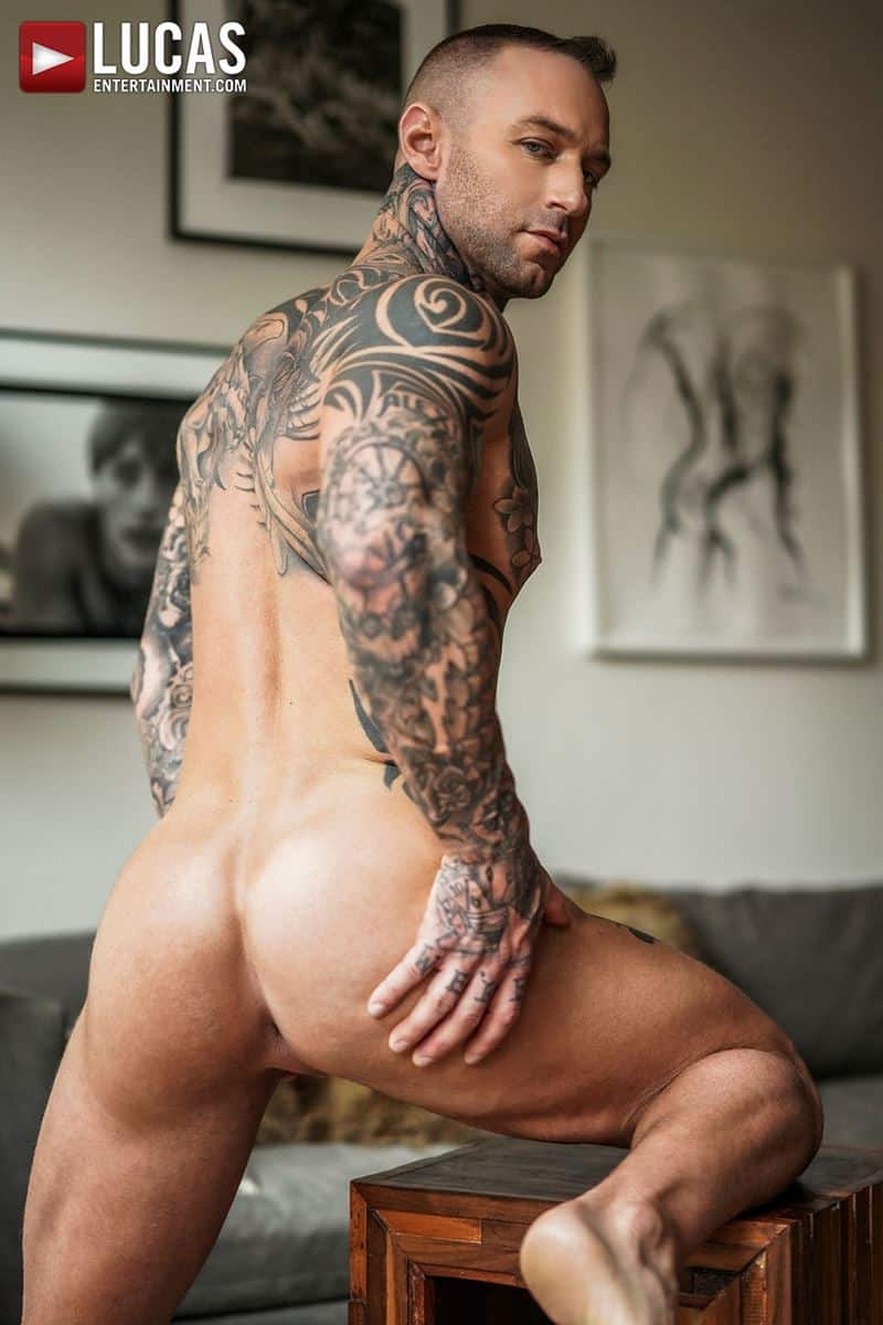 Tattooed muscle hunk Dylan James huge cock bareback fucking Drew Dixon smooth ass hole 015 gay porn pics - Tattooed muscle hunk Dylan James's huge cock bareback fucking Drew Dixon's smooth ass hole