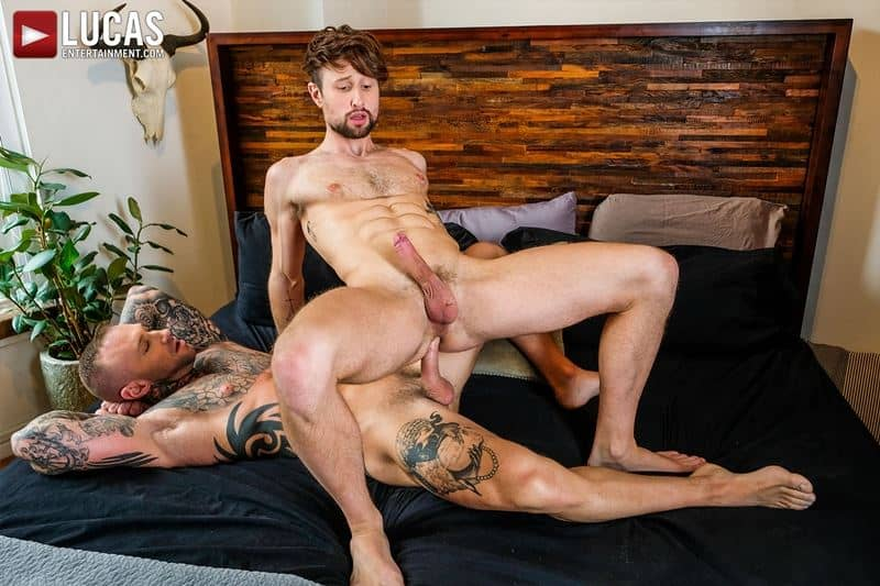 Tattooed muscle hunk Dylan James huge cock bareback fucking Drew Dixon smooth ass hole 024 gay porn pics - Tattooed muscle hunk Dylan James's huge cock bareback fucking Drew Dixon's smooth ass hole