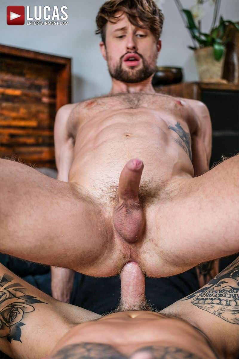 Tattooed muscle hunk Dylan James huge cock bareback fucking Drew Dixon smooth ass hole 026 gay porn pics - Tattooed muscle hunk Dylan James's huge cock bareback fucking Drew Dixon's smooth ass hole