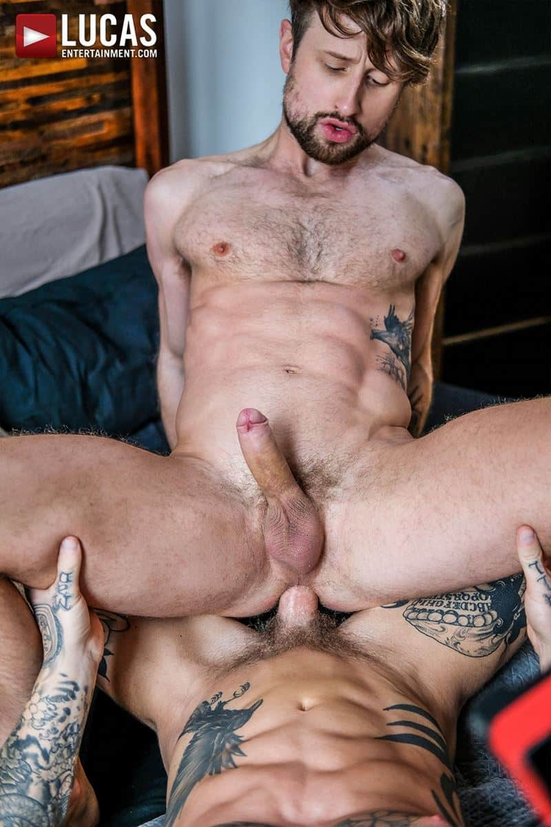 Tattooed muscle hunk Dylan James huge cock bareback fucking Drew Dixon smooth ass hole 027 gay porn pics - Tattooed muscle hunk Dylan James's huge cock bareback fucking Drew Dixon's smooth ass hole