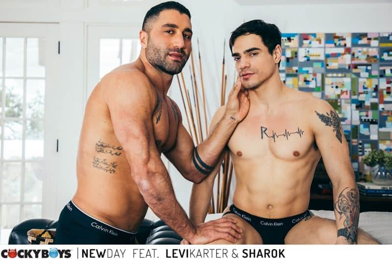 Ripped young dude Levi Karter hot hole dominated muscle stud Sharok huge thick dick 004 gay porn pics - Ripped young dude Levi Karter's hot hole dominated by muscle stud Sharok's huge thick dick