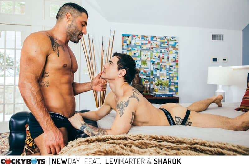 Ripped young dude Levi Karter hot hole dominated muscle stud Sharok huge thick dick 019 gay porn pics - Ripped young dude Levi Karter's hot hole dominated by muscle stud Sharok's huge thick dick
