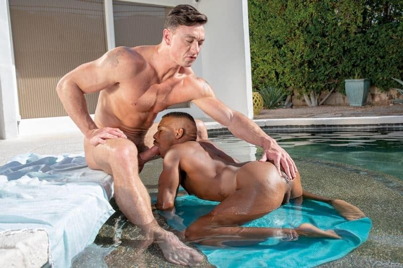 Hot black stud Adrian Hart tight bubble ass bare fucked muscle hunk Cade Maddox huge thick dick 002 gay porn pics - Hot black stud Adrian Hart's tight bubble ass bare fucked by muscle hunk Cade Maddox's huge thick dick