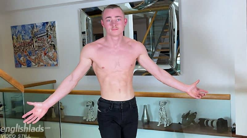 Hot young straight gymnast Caspian Findlater strips naked jerking huge uncut dick massive cum explosion 004 gay porn pics - Hot young straight gymnast Caspian Findlater strips naked jerking his huge uncut dick to a massive cum explosion
